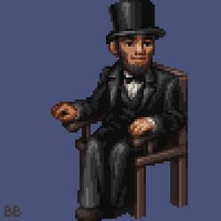 Abraham Lincoln Pixel Sprite