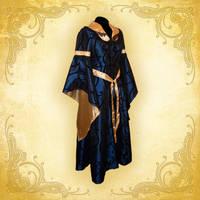 Royal Blue Fantasy Gown by eowynmaid