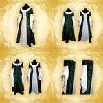 Green Fantasy Gown Detail