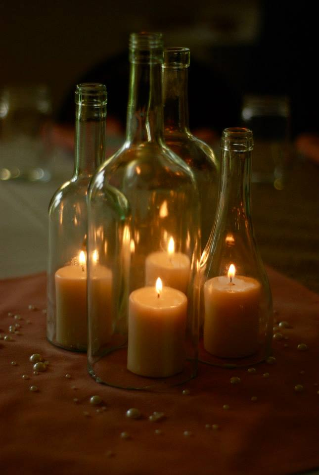 Wine bottle centerpieces 2 by eowynmaid on deviantart for Wedding table decorations with wine bottles