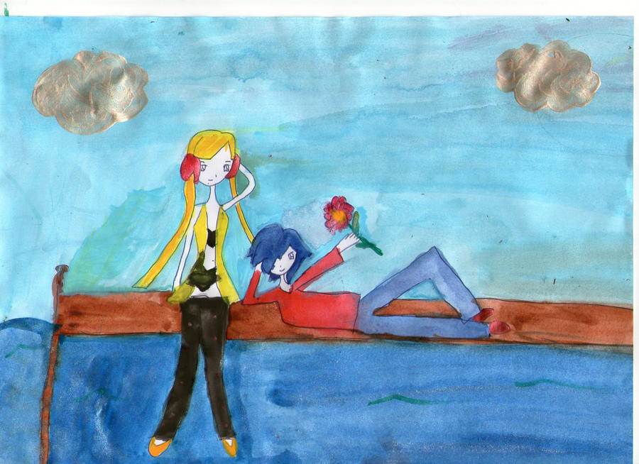 World at My Shoulders- Falkner x Elesa by AbstractWater