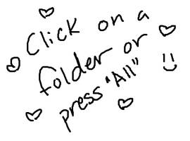 Click on a folder or press All :)