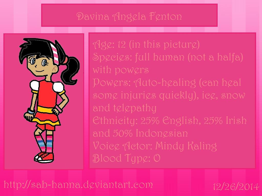 DF: Davina Character Bio by Sab-Hanna