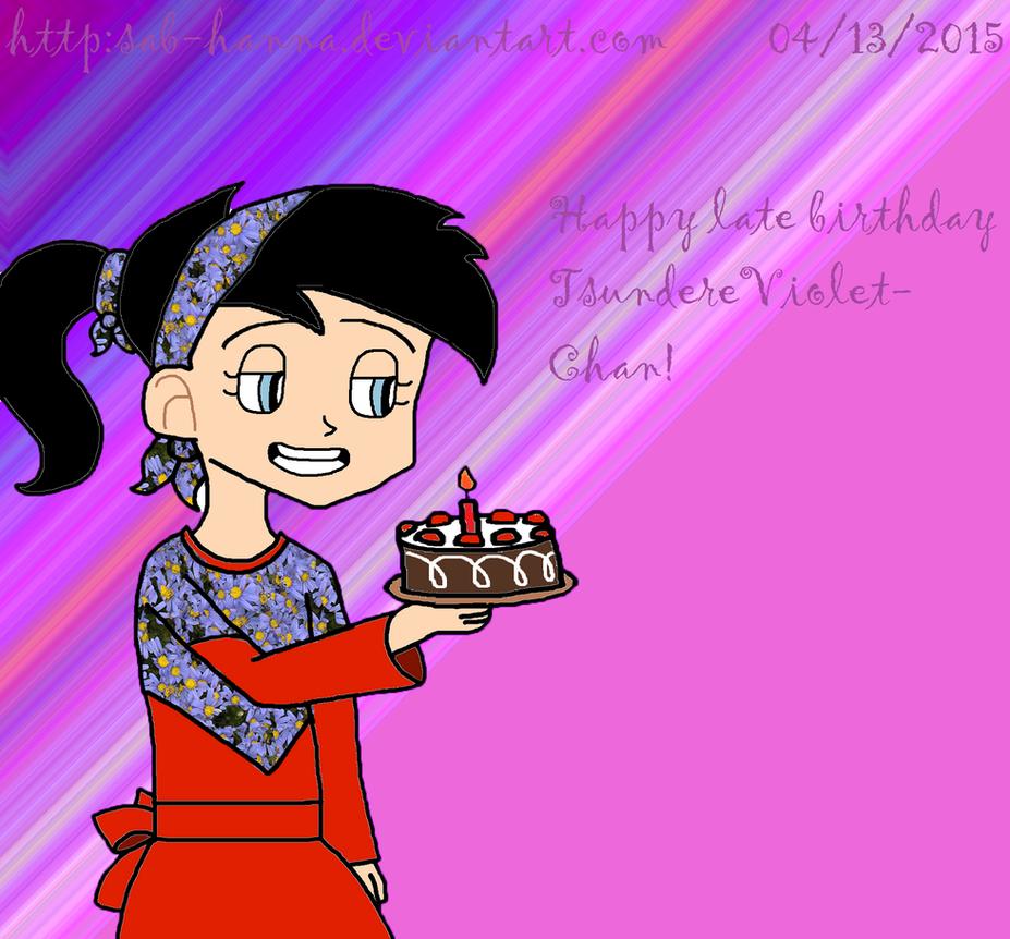 Happy Late Birthday TsundereViolet-Chan by Sab-Hanna