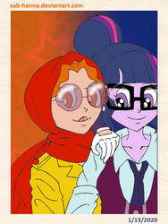 New Decade Redraw Series: Glasses Girls