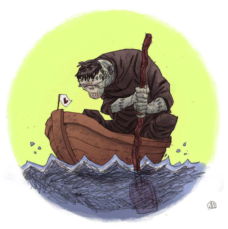 Frankenstein's monster cartoony version  C O L O R by marklaszlo666