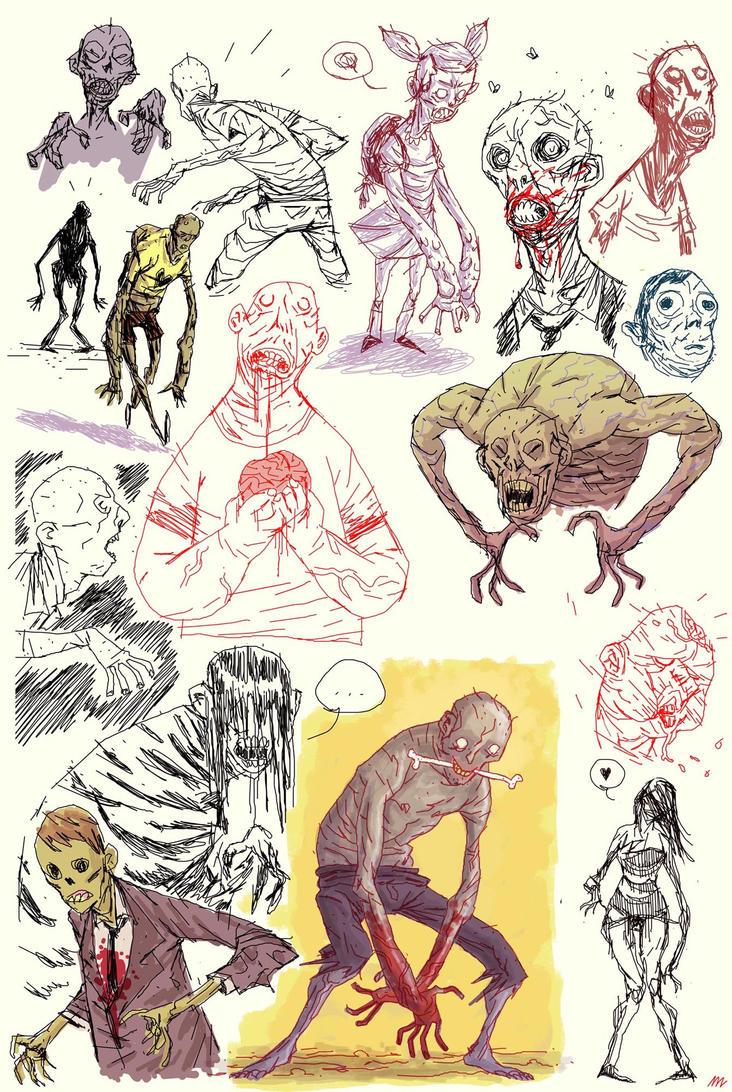 zombie sketchdump by marklaszlo666
