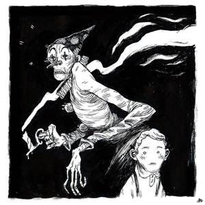 ghost clown 2 b/w