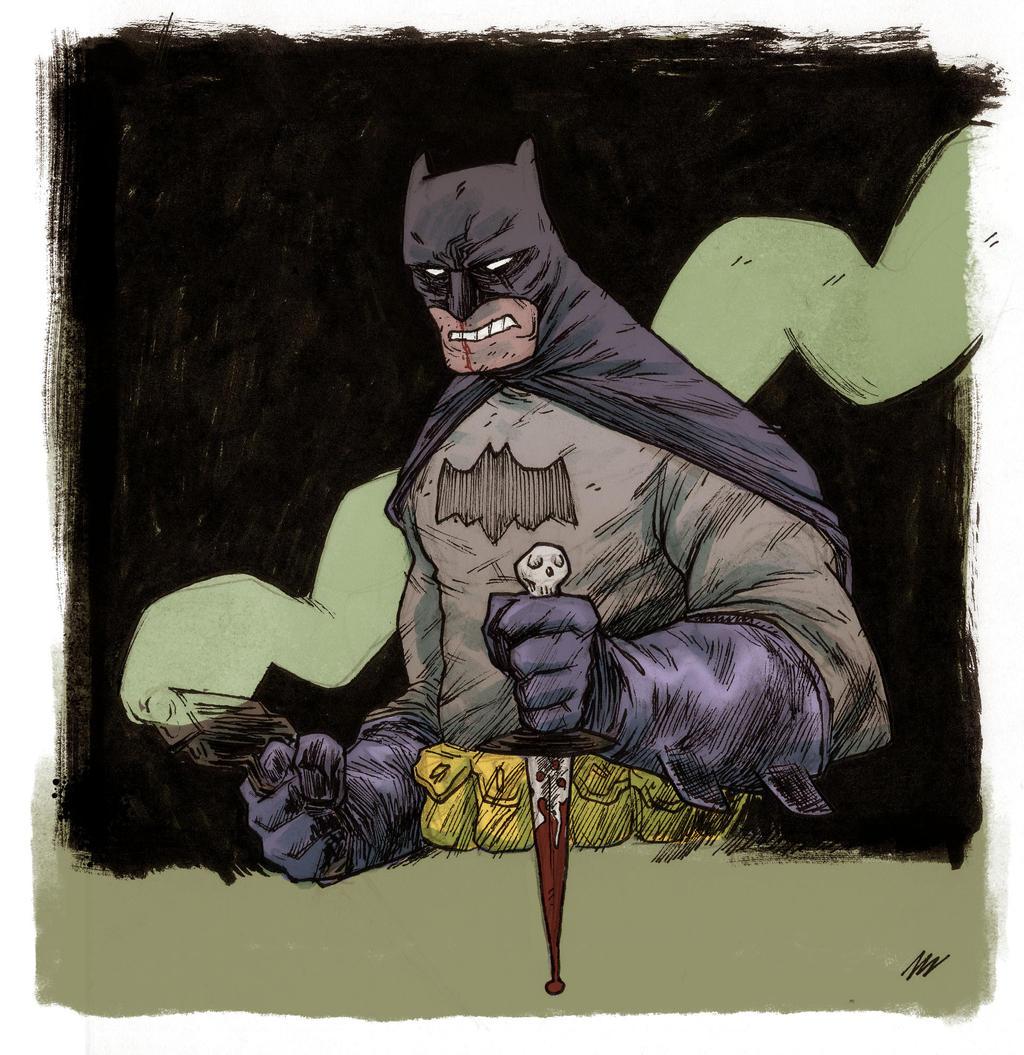 Batman with gunz