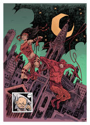 Elektra and Daredevil commission