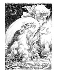 Bilbo vs Gollum - The Hobbit commission