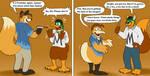 Foxtober Species Swap Hijinks by JamesTheDuck