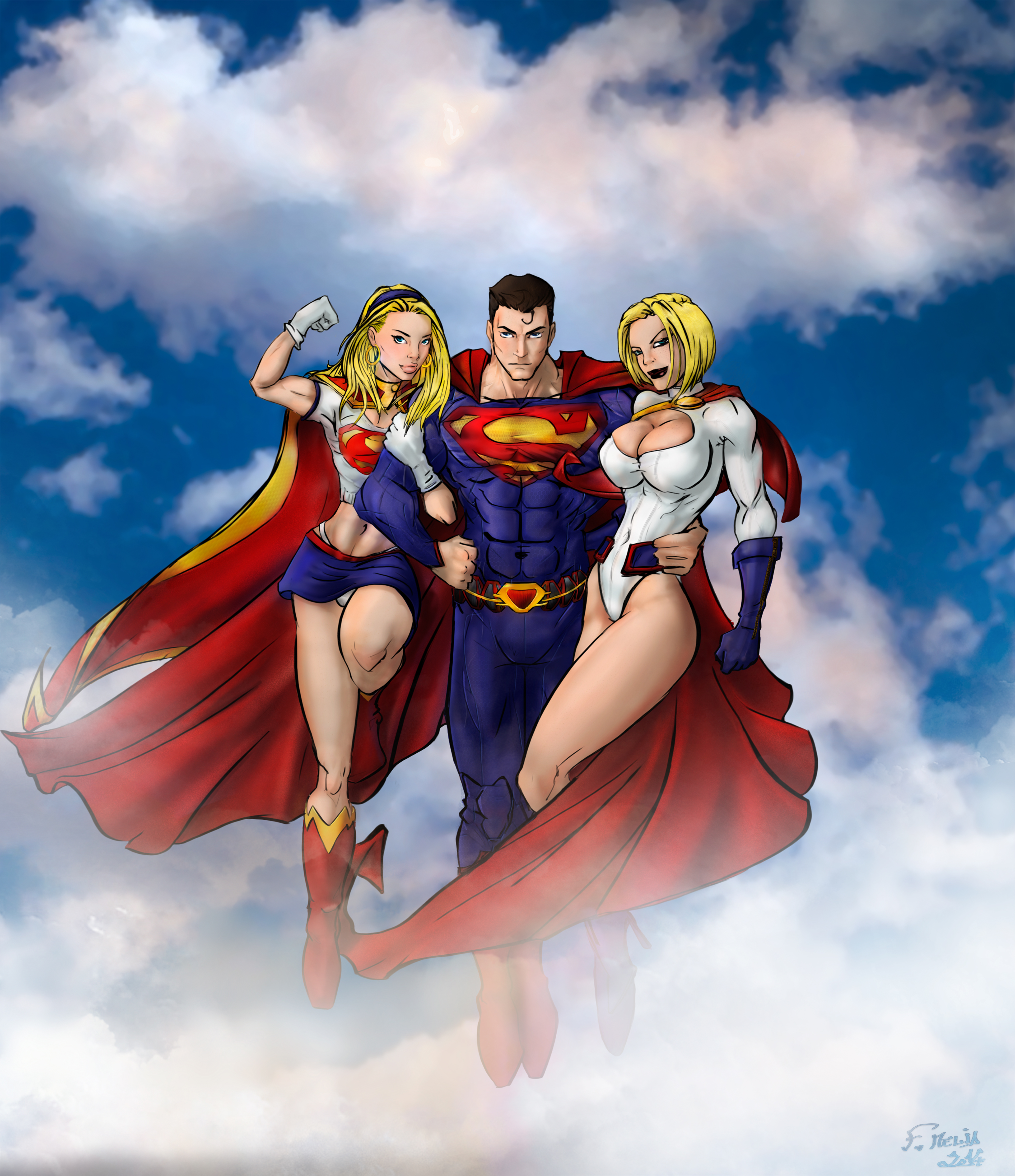 Naked super hero girls banged