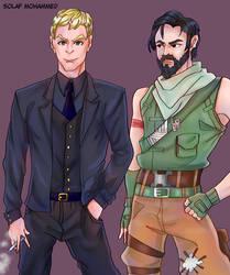 fortnite jonesy and john wick