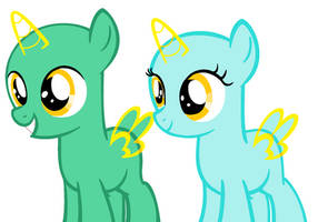 filly and colt base (37) by Amelia-Bases