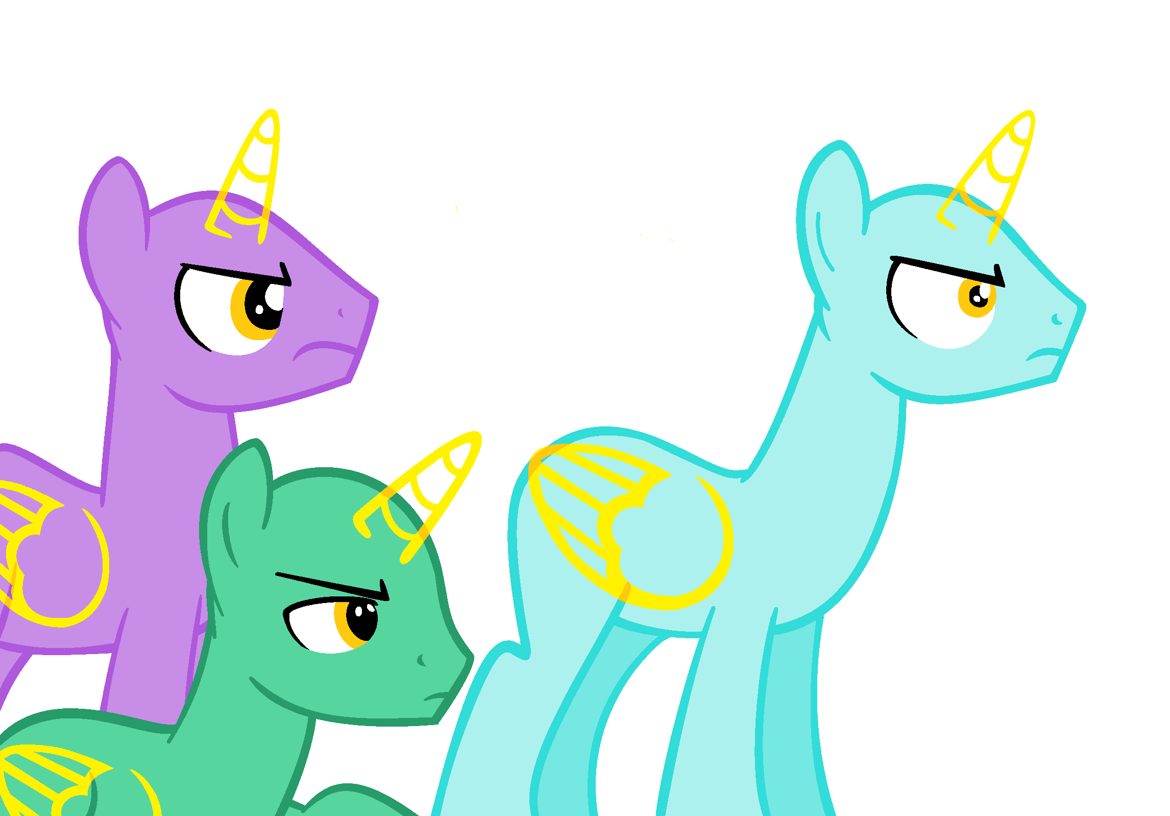 Mlp Stallion Base Angry stallions base  48