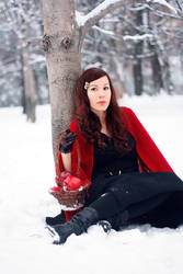 winter with a touch of red