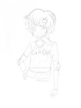 Half body sketch 4