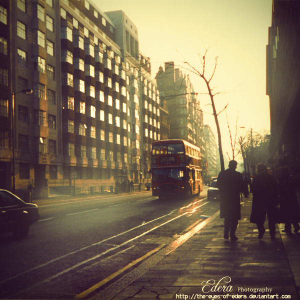 London early in the morning