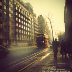 London early in the morning by phoenixgraphixstudio