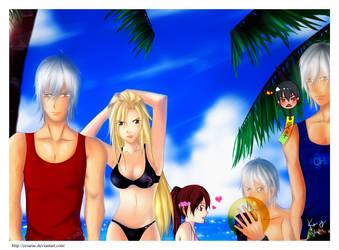 DMC Contest: On the beach by cesarae