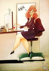 Secretary... by JACKIEpainting
