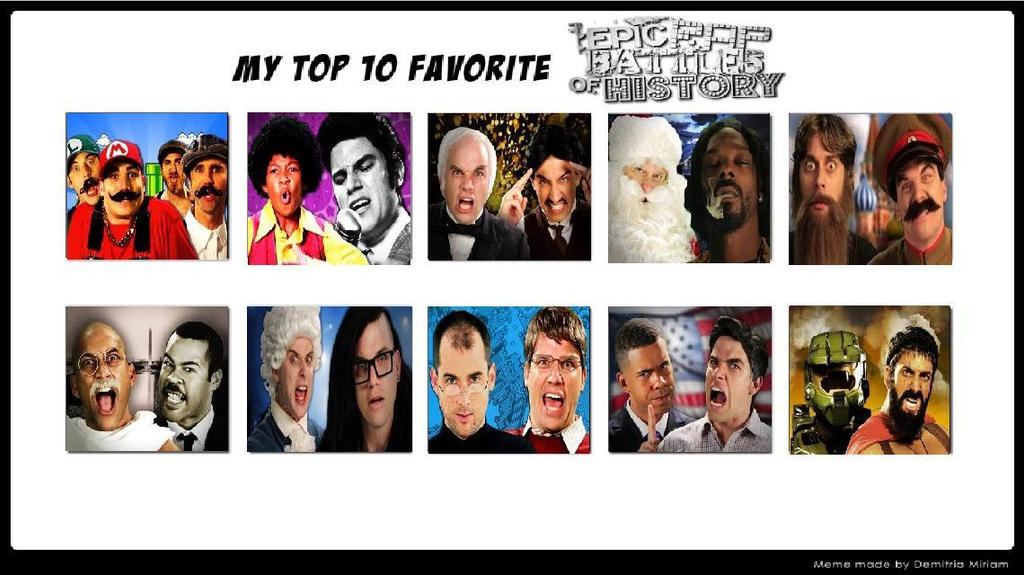 top ten favorite epic rap battles of history s2 by madnessabe on