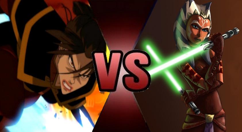 Azula vs. Ahsoka Tano by MadnessAbe