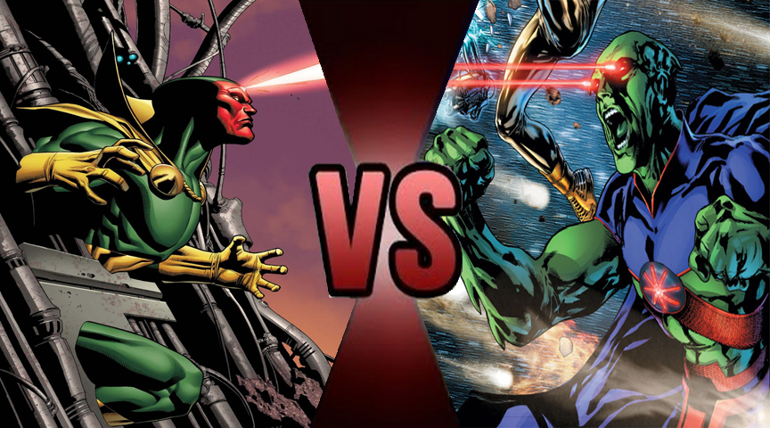 Death Battle Vision Vs Martian Manhunter By Volts4 by ...