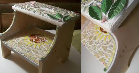 Garden Mosaic Stepstool by Artsy-HAM