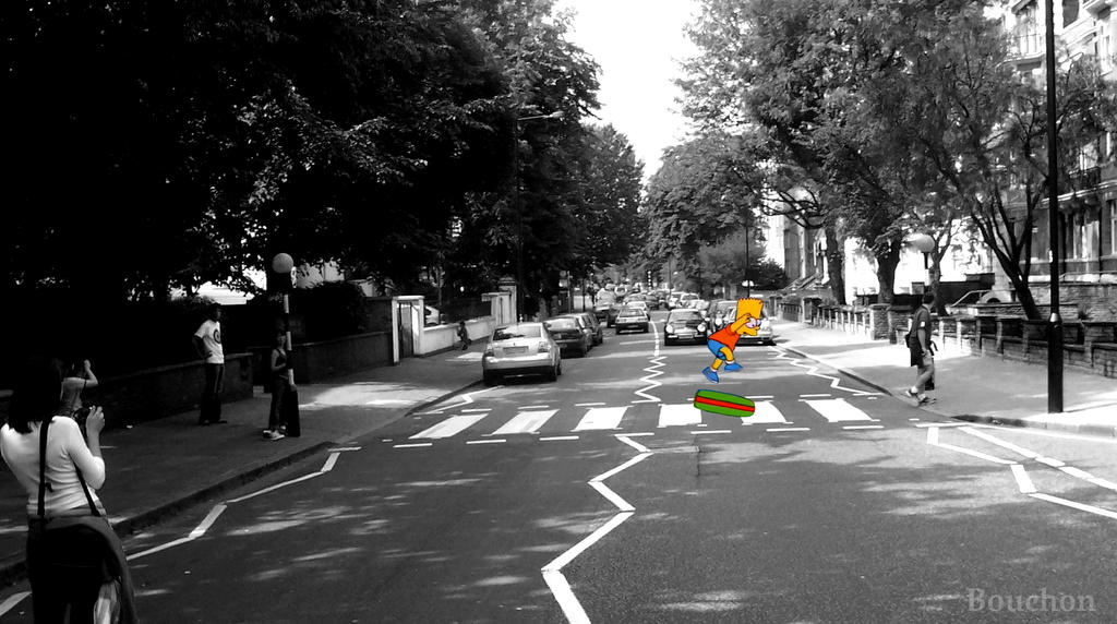 Bart simpson abbey road by bouch0n on deviantart - The simpsons abbey road wallpaper ...
