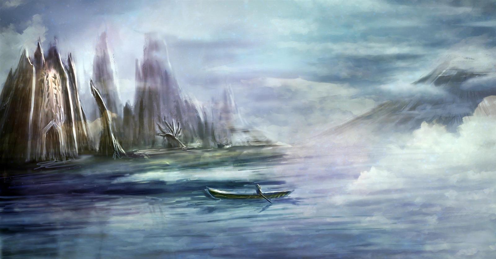 Cloudwake Castle by nekostein