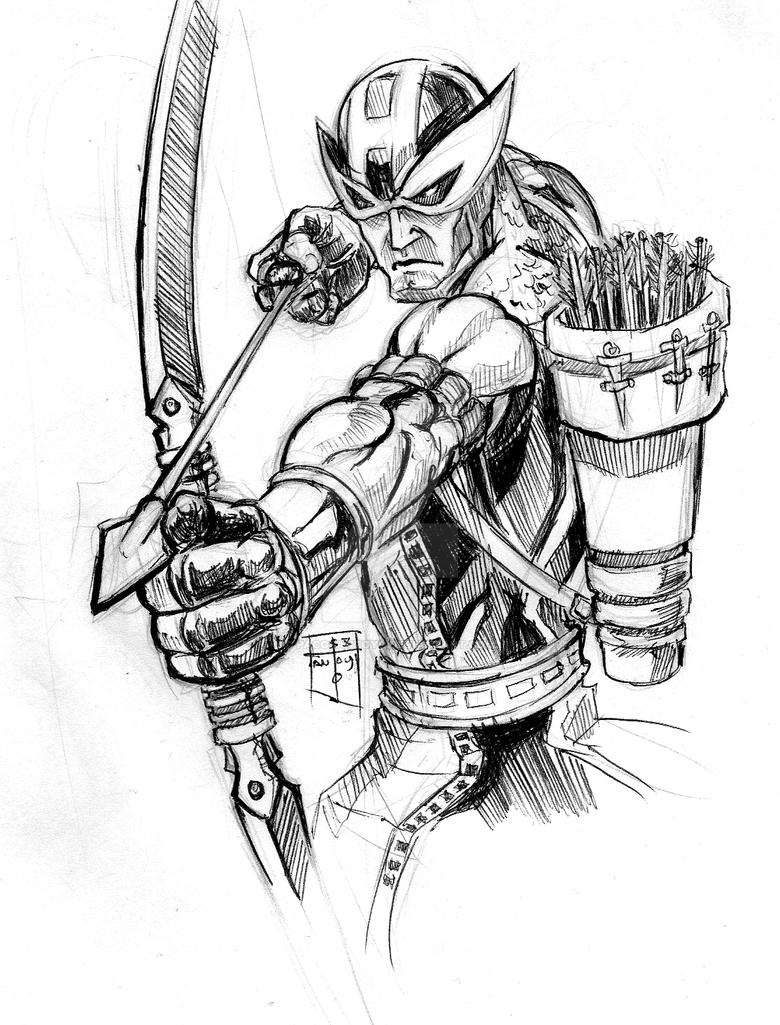 hawk guy coloring pages - photo#30
