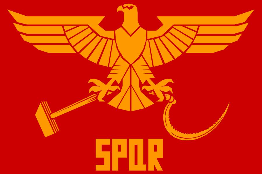 Soviet Roman Flag by Domain-of-the-Public