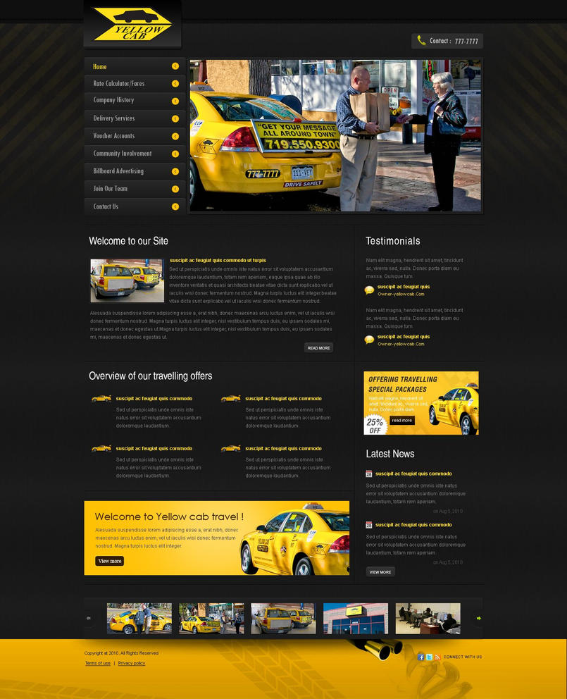 Yellow Html Templates yellow cab web templates by mughikrish1986 on deviantART