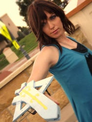 BATTLE STANCE RINOA by trigunperson55
