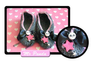 Stars and panda slippers by Erikor