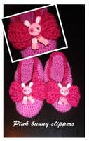 Pink usagi slippers by Erikor