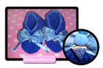 Blueberry cheesecake slippers