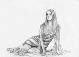 Elven woman by Erikor