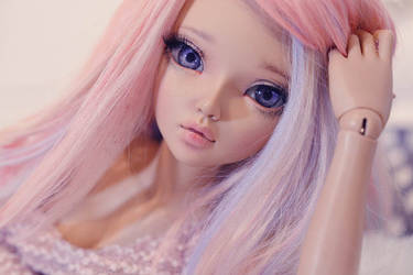Portrait in pink II by Erikor