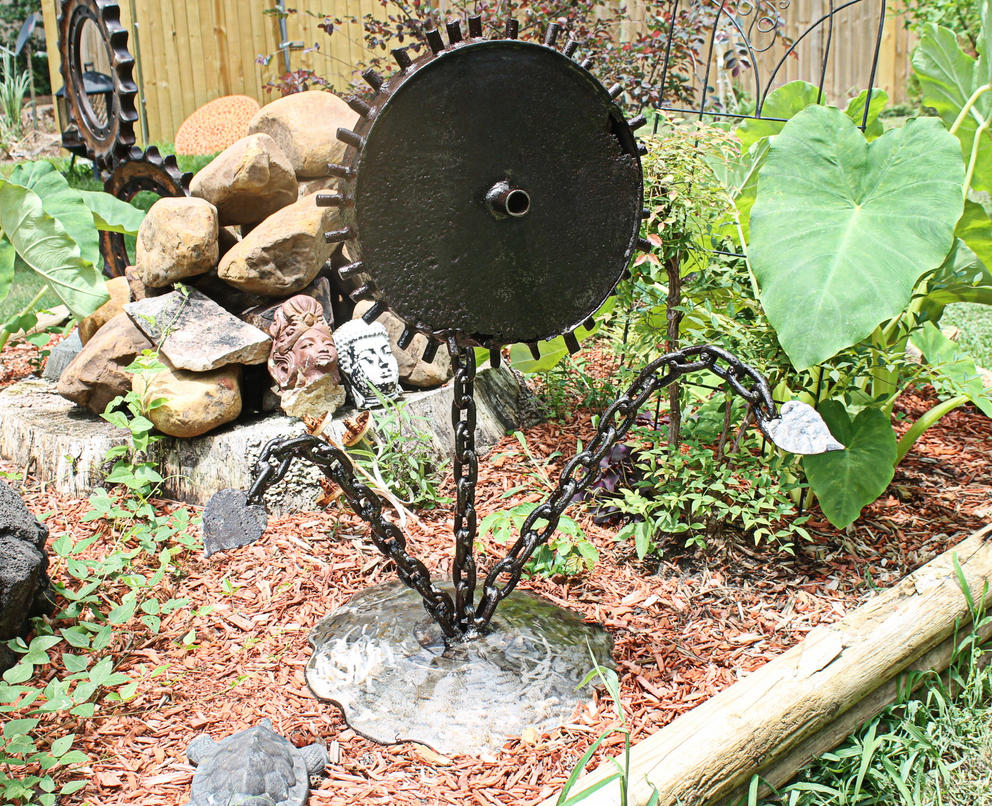 Scrap Metal Art Yard or Garden Sculpture by RecycledSalvage on