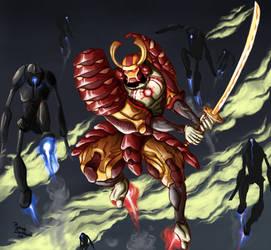 Iron Man meet ninjas by Mr-tvboy