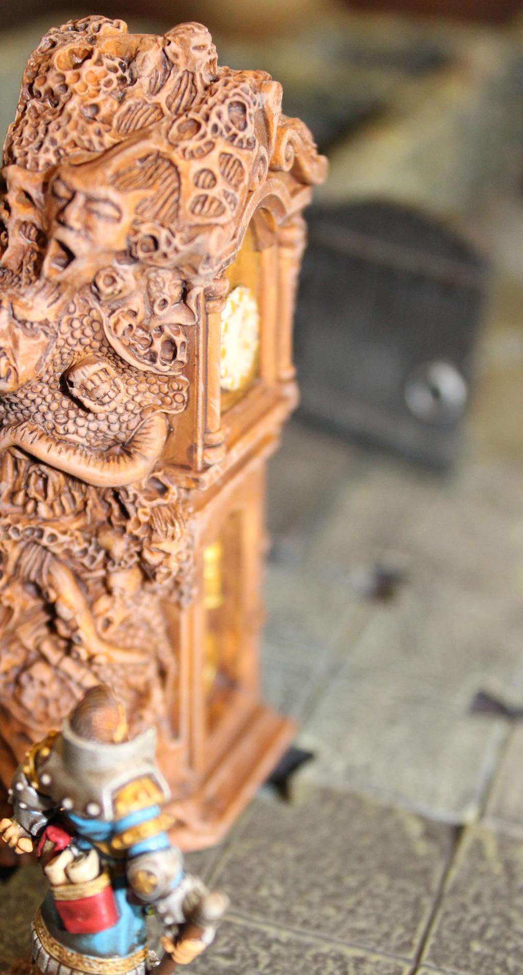 Demonic grandfather clock by MrVergee