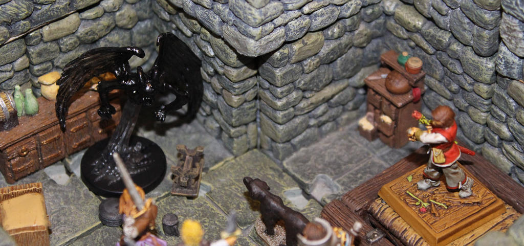 Malene Mord's shadow in the attic apartment by MrVergee