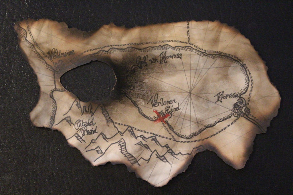 Burned map for curse of the Crimson Throne by MrVergee