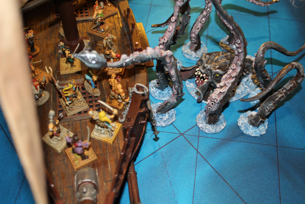Kraken attacks Stormstalker conversion by MrVergee