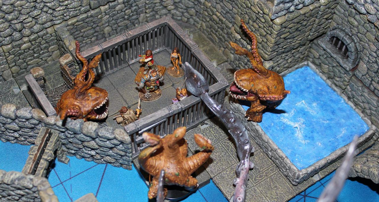 Otyugh attack in Old Korvosa by MrVergee
