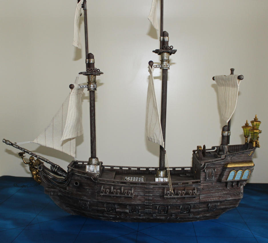Mega Bloks Black Pearl conversion side by MrVergee