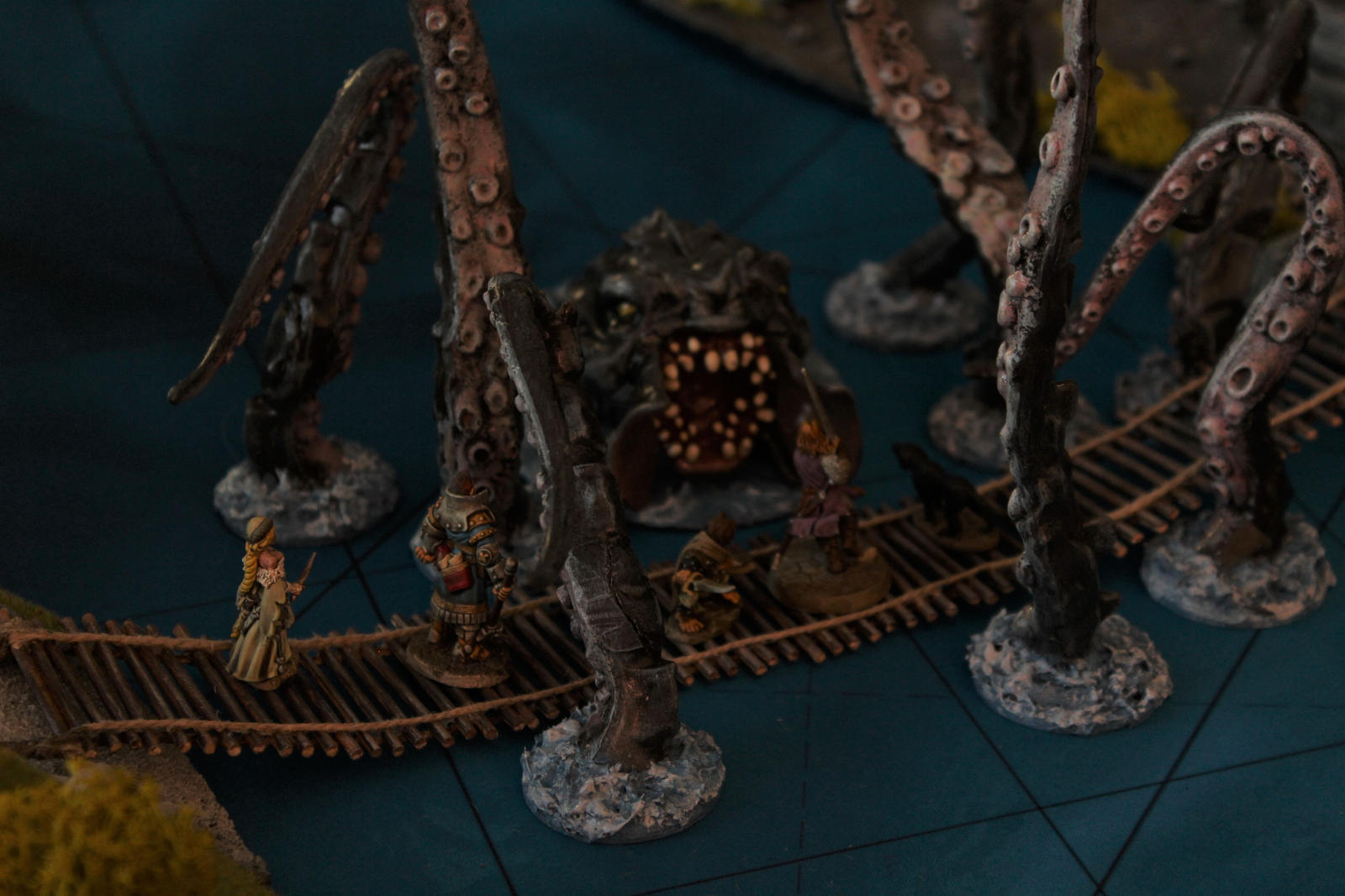 Pathfinder Harrowing Demon's Fen bridge by MrVergee
